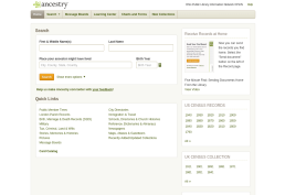 Ancestry library edition screenshot