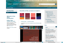 very short introductions main page